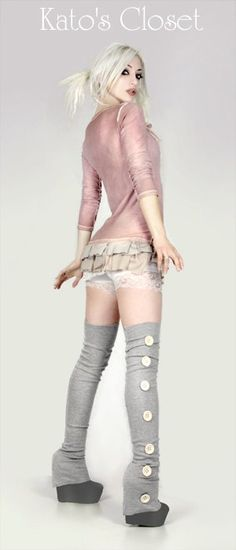 omg, theigh heigh legwarmers! not sure about the bottons, but omg those are awesome!