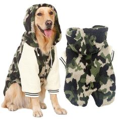 Simply awesome Big dog warm fleece camouflage jacket. Find it in my store ✨  http://dogtrunk.com/products/winter-warm-fleece-big-large-dog-coat-jacket-camouflage-dog-puppy-hoodie-pajamas-clothing-golden-retriever-pitbull-dog-clothes?utm_campaign=crowdfire&utm_content=crowdfire&utm_medium=social&utm_source=pinterest