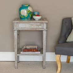 Side Table with Drawer - gorgeous new side table in distressed wood.
