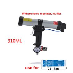 New 310ML Cartridge Type Pneumatic Glue Gun Silicone Gun Suitable For Plastic Drum 215MM-225M, With Pressure Regulator, Muffler