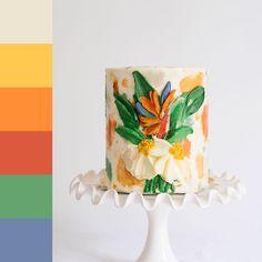 Bird Of Paradise Pretty Cakes, Beautiful Cakes, Amazing Cakes, Buttercream Flowers, Buttercream Cake, Lumberjack Cake, Icing Techniques, Unique Cakes, Elegant Cakes