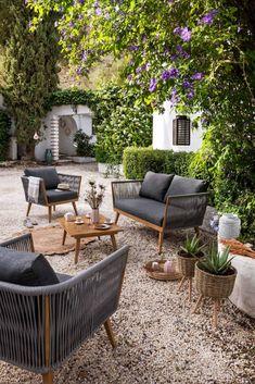 CAP Salon de jardin 2 places en résine imitation rotin avec ...
