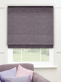 Spectrum Violet Mist Roman Blind from Blinds 2go Blackout