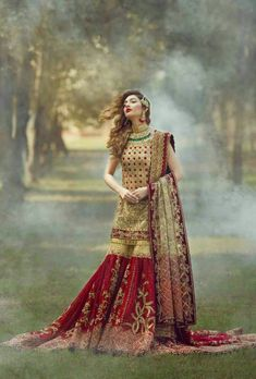 Buy Wedding Designer Outfits And Suits in Cheapest Prices with Standard Quality. Call/ WhatsApp us 77164 Pakistani Bridal Couture, Pakistani Wedding Outfits, Designer Bridal Lehenga, Indian Bridal Fashion, Bridal Outfits, Pakistani Dresses, Designer Wedding Dresses, Asian Fashion, High Fashion