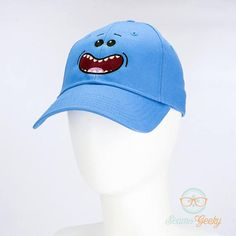 d0092a6373d Rick and Morty Hat Mr. Meeseeks Geeky Embroidered Cartoon