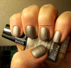 Nails Actually Avon Suede Platinum Beauty
