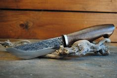 100% handmade hunting knife.