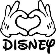 Mouse Hands in a Heart - Vinyl Decal Disney Scrapbook, Scrapbooking, Disney Silhouette Art, Image Mickey, Disney Decals, Disney Stencils, Images Disney, Mickey Mouse Wallpaper, Disney Diy