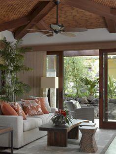Applegate Tran Interiors - Tropical - Bedroom - hawaii - by Applegate Tran Interiors Tropical Bedrooms, Tropical Home Decor, Tropical Interior, Tropical Design, Tropical Style, Tropical Houses, Coral Design, Modern Tropical, Tropical Prints