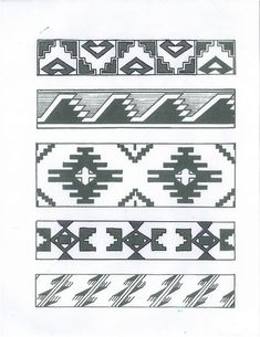 7 Best Images of Free Printable Native American Designs - Printable Native American Headband Patterns, Native American Dream Catcher Coloring Pages and Free Native American Tattoo Designs Native American Patterns, Native American Symbols, Native American Design, Native Design, Native American Beadwork, American Indian Art, Indian Patterns, Bead Loom Patterns, Beading Patterns