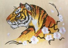 MACHINE EMBROIDERY FILE - Tiger  *******YOU MUST HAVE AN EMBROIDERY MACHINE TO SEW OUT THESE FILES.*******   W: 135.90 mm (5.35 inches) H: 180.98 mm (7.13 inches) Stitches: 42372 Colors: 6 Hoop size: 260*160 mm (6*10 inches)   Formats: JEF, PES, HUS, SEW, EXP, PCS, DST, VP3  If you require a different file format, size or color, please email me first to make sure I can accomodate you (I normally can).  You can choose your own thread colors to match your project!   These are great for quilts…