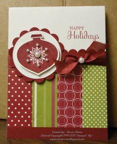 Pretty Christmas ornament card.