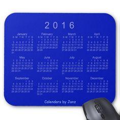 Royal Blue 2016 Calendar by Janz Mousepad Mousepad