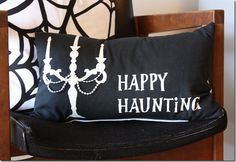 I love this Halloween pillow from the Crafty Cupboard! The beads are darling!!