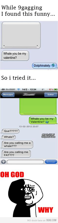 Whale you be my valentine fail