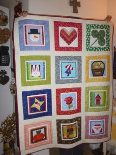 My block of the month quilt 2015