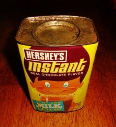 Hershey's Instant Chocolate Milk tin.