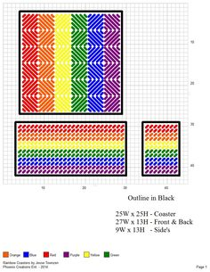 The best Canvas patterns ideas Plastic Canvas Coasters, Plastic Canvas Stitches, Plastic Canvas Tissue Boxes, Plastic Canvas Crafts, Plastic Canvas Patterns, Black Coasters, Cross Stitch Boards, Canvas Designs, Canvas Ideas