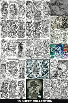 Boog Free Tattoo Flash Sheets Http//wwwtattoopinscom/tattoo Artist