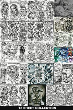 Boog Free Tattoo Flash Sheets Http//wwwtattoopinscom/tattoo Artist