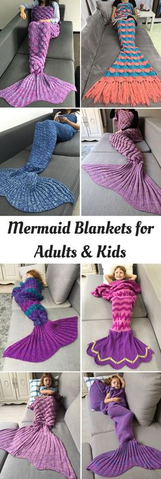 100+ Mermaid Blankets for Adults & Kids | Up to 80% off | #blankets #Mermaid