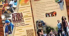 Afrikamarkt Veranstaltungsflyer Konzept, Design, Umsetzung, Abwicklung