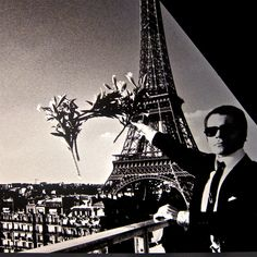 Helmut Newton, a young Karl Lagerfeld