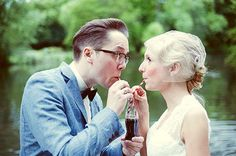 real wedding: alternative vintage wedding {nina  martin}