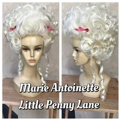 Bright Blonde Marie Antoinette Century Adult Costume Wig with Bow Accents Costume Wigs, Costume Shop, Costume Makeup, Yarn Wig, Colored Wigs, Carnival Of Venice, Bright Blonde, Doll Wigs, Wig Cap