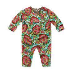 Printed Cotton Romper | Dave Bella Kids Clothes www.davebella.co.uk