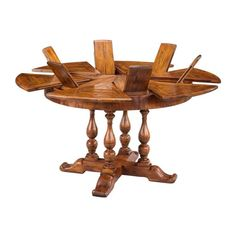 New Expandable Round Pedestal Dining Table