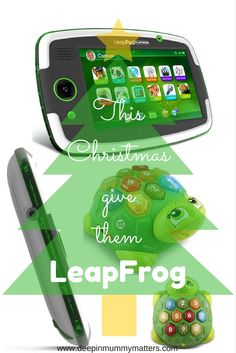 Learning made fun with these great gifts from LeapFrog, the kids tablet LeapPad Platinum offers hours of learning fun and safety online with great parental controls and learning colours/counting is exciting and musical with Melody the Musical Turtle