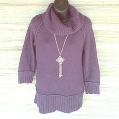 Ann Taylor LOFT sweater Perfect condition! So cute. 56% cotton 30% nylon 14% rabbit hair LOFT Sweaters Cowl & Turtlenecks