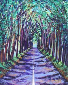 """LATE SPRING TUNNEL 34/""""X50/"""" CANVAS on Super gallery frame DAVID HOCKNEY"""