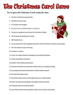 Guess the Christmas Carol Game by GartyPames on Etsy