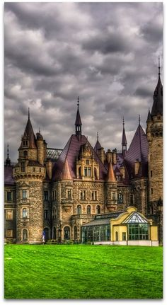 Castle in Moszna, Poland, a small village in south-west Poland, approximately 30 km (19 mi) from Opole.