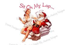 Adult Christmas Card  Sit On My Lap by AnnKayGreetingCards on Etsy, $5.50