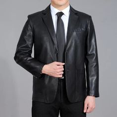 >> Click to Buy << Spring 2015 New Men's Genuine Leather Jacket Men Leather Suit Leisure Sheep Leather Jacket Brand Men Leather Jacket Black/Brown #Affiliate
