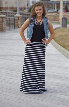 Striped black and white