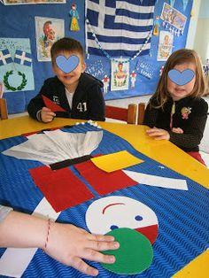 Την εβδομάδα αυτή μιλάμε για την γιορτή της 25ης Μαρτίου .. Σήμερα αναφερθήκαμε στην την επέτειο της επανάστασης του 1821, με όσο γίνετα... 28th October, Kindergarten, Nursery, 1 Decembrie, Education, Drawings, Blog, Kids, Crafts