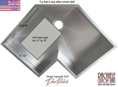 Corner sink: Custom Stainless steel and copper corner kitchen sinks made in Florida, shipped anywhere. Single bowl corner sinks are also available as workstation sinks with cutting boards and other accessories. Corner Sink Kitchen, Single Bowl Kitchen Sink, New Kitchen Cabinets, Kitchen Sinks, Kitchen Storage, Copper Farm Sink, Copper Kitchen, Stainless Sink, Stainless Steel Kitchen