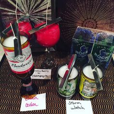 My #etsy #orders I was working on today. #beer #bottle #candles #red #wineglass…