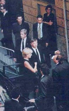 July 1997 Princess Diana at Versace funeral Milan