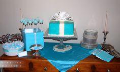 Breakfast at Tiffany's Bridal Shower Dessert Table - Creative Melissa Designs