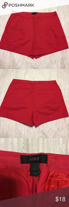 J CREW Pleated Shorts Pleated J Crew shorts in red with zipped on the side. Nice material that can be dressed up. J. Crew Shorts