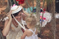 Little girl's birthday party: Tea Party (hat craft)