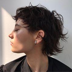 Pin on ヘアー Tomboy Haircut, Androgynous Haircut, Short Punk Hair, Asian Short Hair, Short Grunge Hair, Mullet Haircut, Mullet Hairstyle, Cut My Hair, Long Hair Cuts