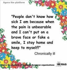Life with chronic migraine/ Fibromyalgia/ Chronic Illness/mental health Chronic Migraines, Chronic Illness, Chronic Pain, Endometriosis, Fibromyalgia Quotes, Mental Illness, Lupus Quotes, Migraine Quotes, Fibromyalgia Pain