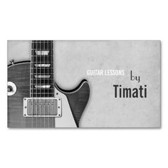 Guitar Lessons, Music , Instruments Instructor Business Card Templates