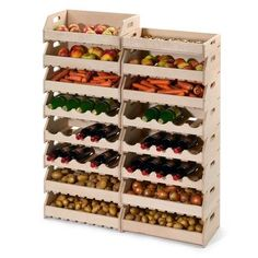 Kitchen Organization Pantry, Pantry Storage, Home Organization, Food Storage, Storage Spaces, Home Decor Kitchen, Diy Home Decor, Fruit And Vegetable Storage, Vegetable Rack